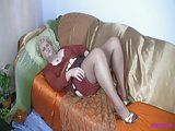Granny in fully Fashioned Nylon Stockings