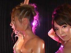 Low-spirited Dancers Oil Infinitesimal Bikini - Uehara Hanakoi, Omori Reina (DKYF-63)