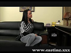 Casting Matured brunette takes anal in casting