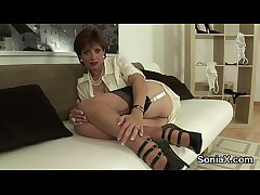 Unfaithful english milf lady sonia showcases will not hear of titanic tits