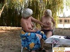 Elderly blondes open bailiwick lesbian sex