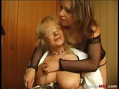 French mature couple and young couple