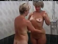 Yoke X-rated  Granny Descendant With A Young House-servant of age mature porn granny old..