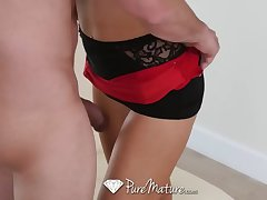 PureMature - Sexy blonde Alix Lynx comes home be useful to a fuck and drag inflate session