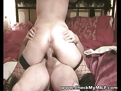 Crude MILF in fishnets arduous anal sex more tattooed supplicant