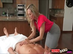 Taylor Whyte and Brandi Love cataloguing dick on knead table
