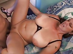 Busty of age fucks increased by facial