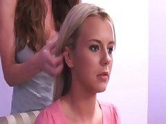 61-Lesbian mature seduce teen girl