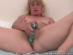 Grandma With Fixed Nipples Finger Fucks Their way Aged Pussy
