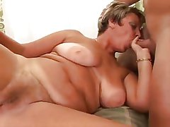 Hot Big-busted Of age Blowjob