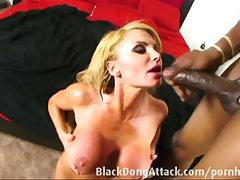 White-headed milf getting fucked hard by a BBC