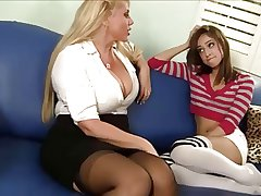 Full-grown Woman Seduces Young Girl...F70