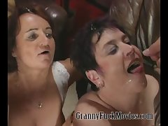 Real hellacious granny orgy scene