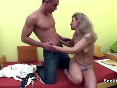 German Hot Milf caught young boy and fuck here asshole