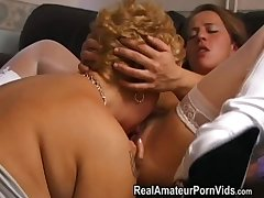 Mature chesty housewives plaything and assplay