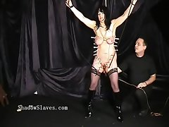 Pegged grown-up slaveslut tortured tears and hardcore bdsm of old chubby submiss