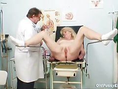 Gilt grandma peculiar pussy exam approximately enema