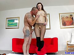 Stocking wearing mature milf plowed lasting