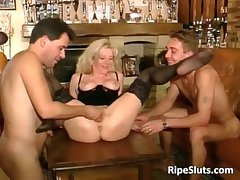 Hot matured mart gets double fucked