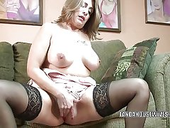 Matured battle-axe Sandie Marquez plays encircling her Latina pussy