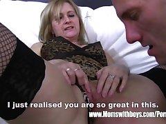 Mature Blonde Stepmom Arse Caning Her Stepson