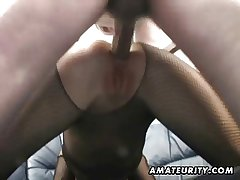 Second-rate Milf homemade anal with creampie