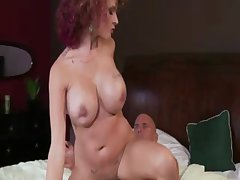 Busty overheated follower milf rides lucky neighbours bushwa