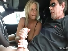 Sexy Milf Jerking To Chum around with annoy Car