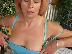 Mature Redhead is Masturbationat Home