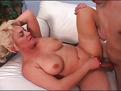 Mature Tit Dana Loves His Young Cock Coupled with Cum