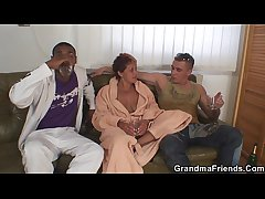 Interracial granny photocopy penetration