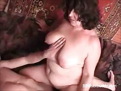 BBW granny likes to drink and be hung up on