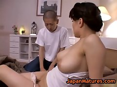 Miki Sato and young boy - get to one's feet (part 3 of 9)