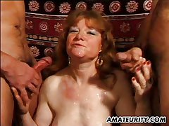 Full-grown inferior tie the knot anal fuck with facial shots