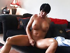 Hot Mature Busty Subfuscous Cougar Bangs and Wears In the chips