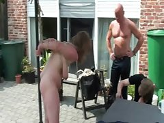 Three slavegirls wide outdoor perversions