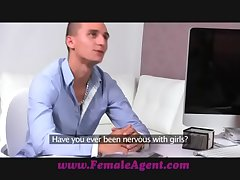 FemaleAgent Spinal column stud suffer with prove his worth
