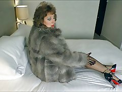 Stockings Babe.Seduction encircling Fur