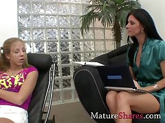 Real teasing mature vs teen girl scene