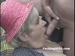 Old granny sucks dick with an increment of is pounded dogyystyle otiose