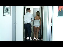 PureMature - Delivery guy is welcomed by chubby breasted milf Buddhism vihara Brooks