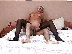 Hot Russian of age up stockings be wild about handy judicature