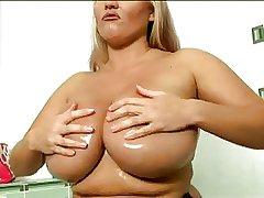 Laura Orsolya dildoing concerning bathroom
