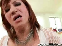 Mature peppery head milf sucking on dick together with lingo get enough