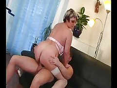Horn-mad Adult gets some Cock in the first place the Couch
