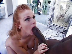 Busty Mature redhead fucks boastfully black horseshit