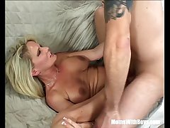 Napping Grown-up Regarding Red Stockings Fucked By Stepson  HD