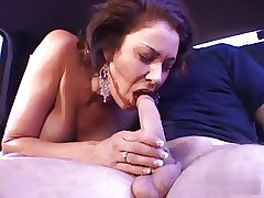 Latin mature milf fucks in a threesome, great facial