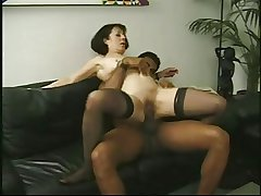 Vintage mature Anne Andersson fucked by a big malicious bushwa