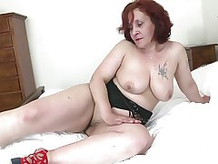 Old granny not far from big tushie and itchy vagina